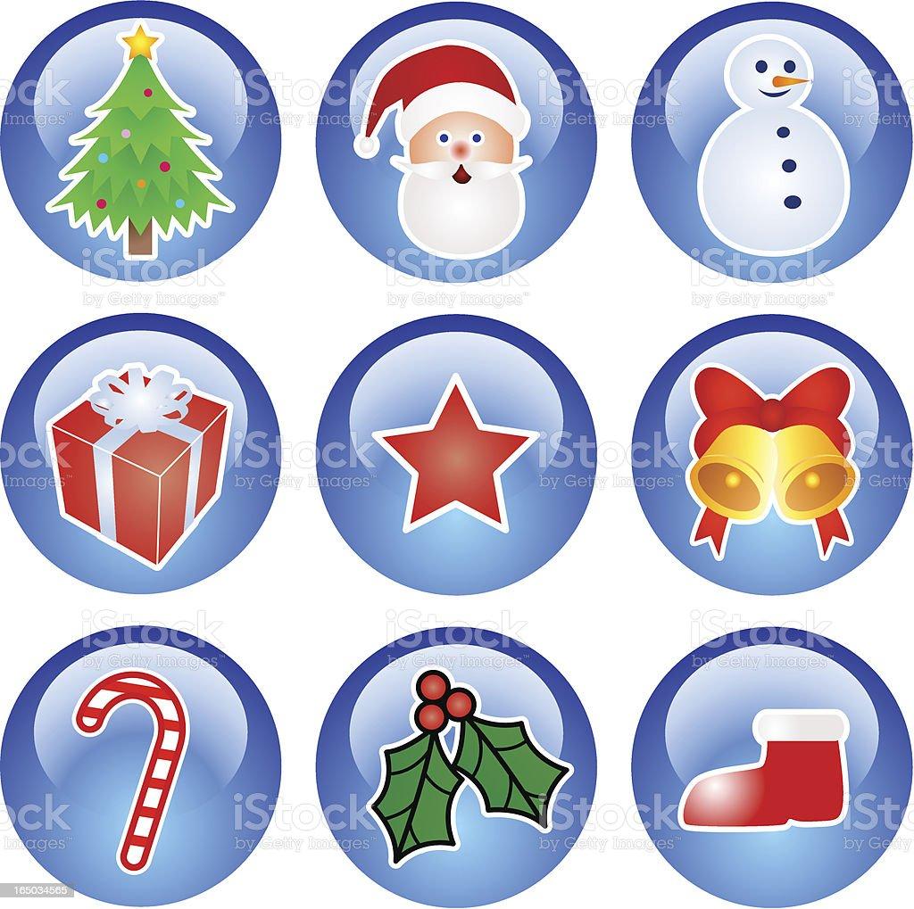 Christmas Icons - vector royalty-free stock vector art