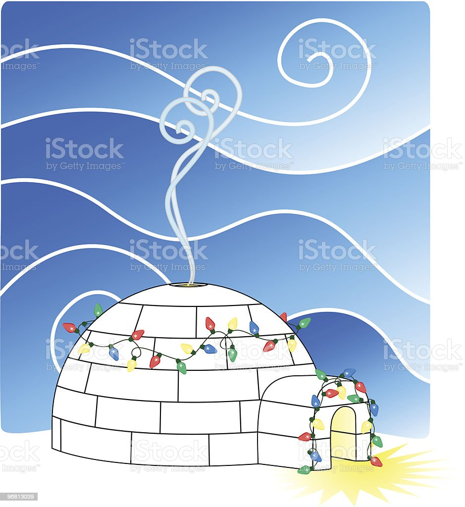 Christmas Igloo royalty-free stock vector art