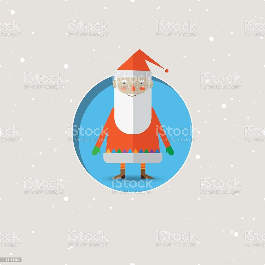 Noël Illustration de dessin animé de Santa Claus stock vecteur libres de droits libre de droits