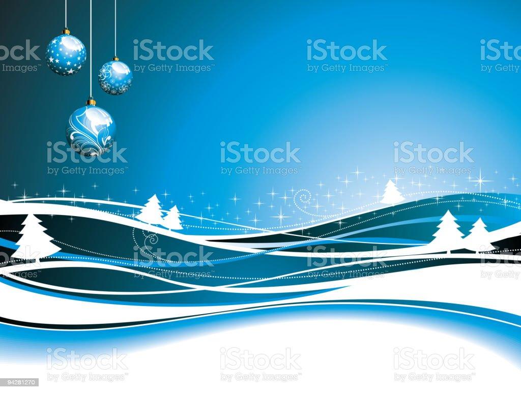 Christmas illustration with glass balls. royalty-free stock vector art