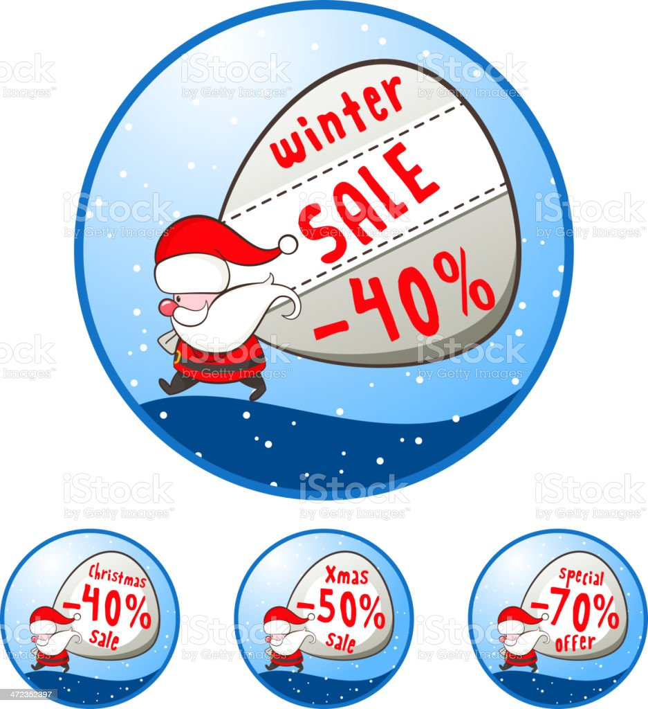Christmas illustration with Santa Claus royalty-free stock vector art