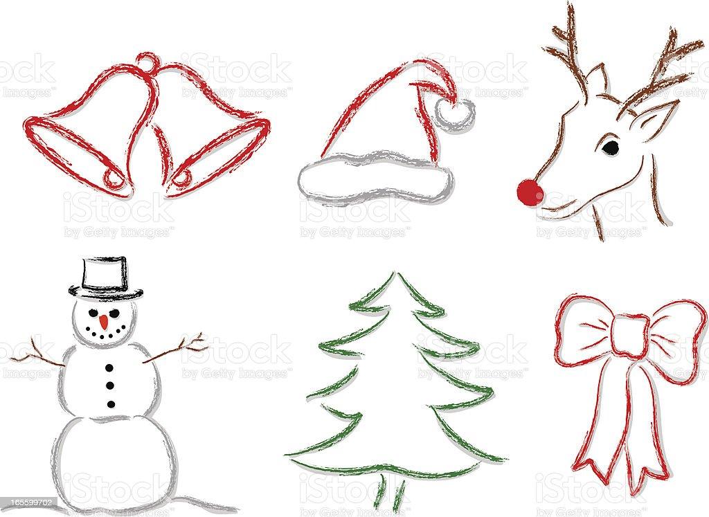 Christmas images vector art illustration