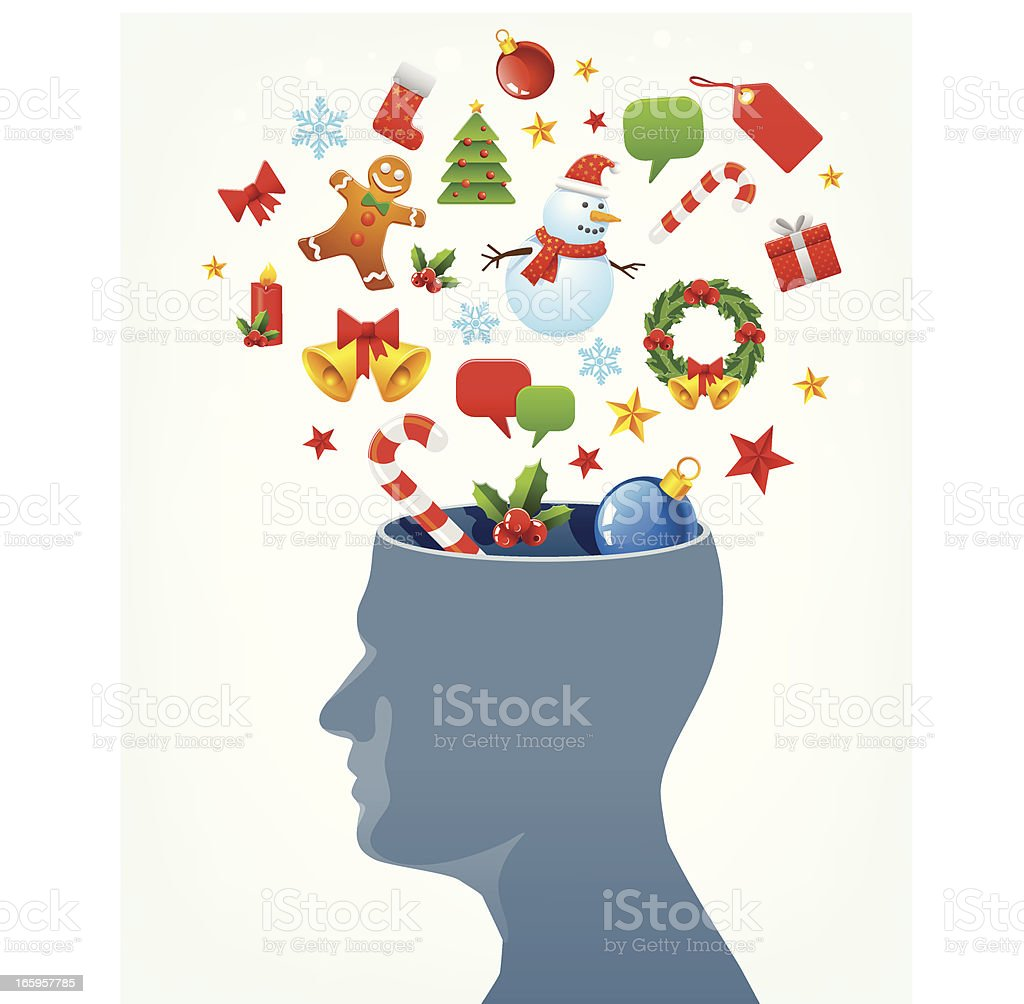 Christmas in mind vector art illustration