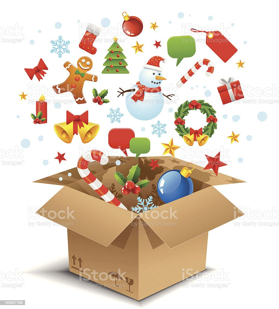 Christmas in the box royalty-free stock vector art