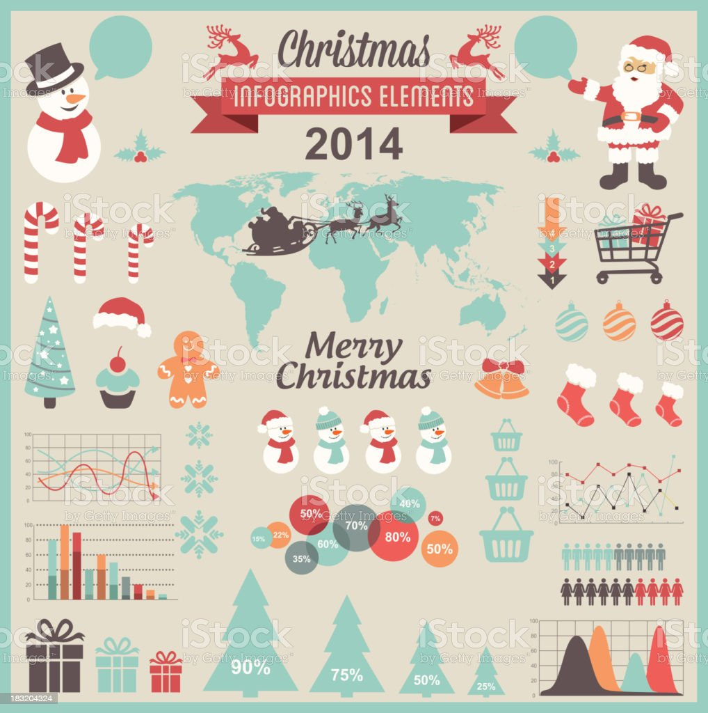Christmas Infographic Elements royalty-free stock vector art