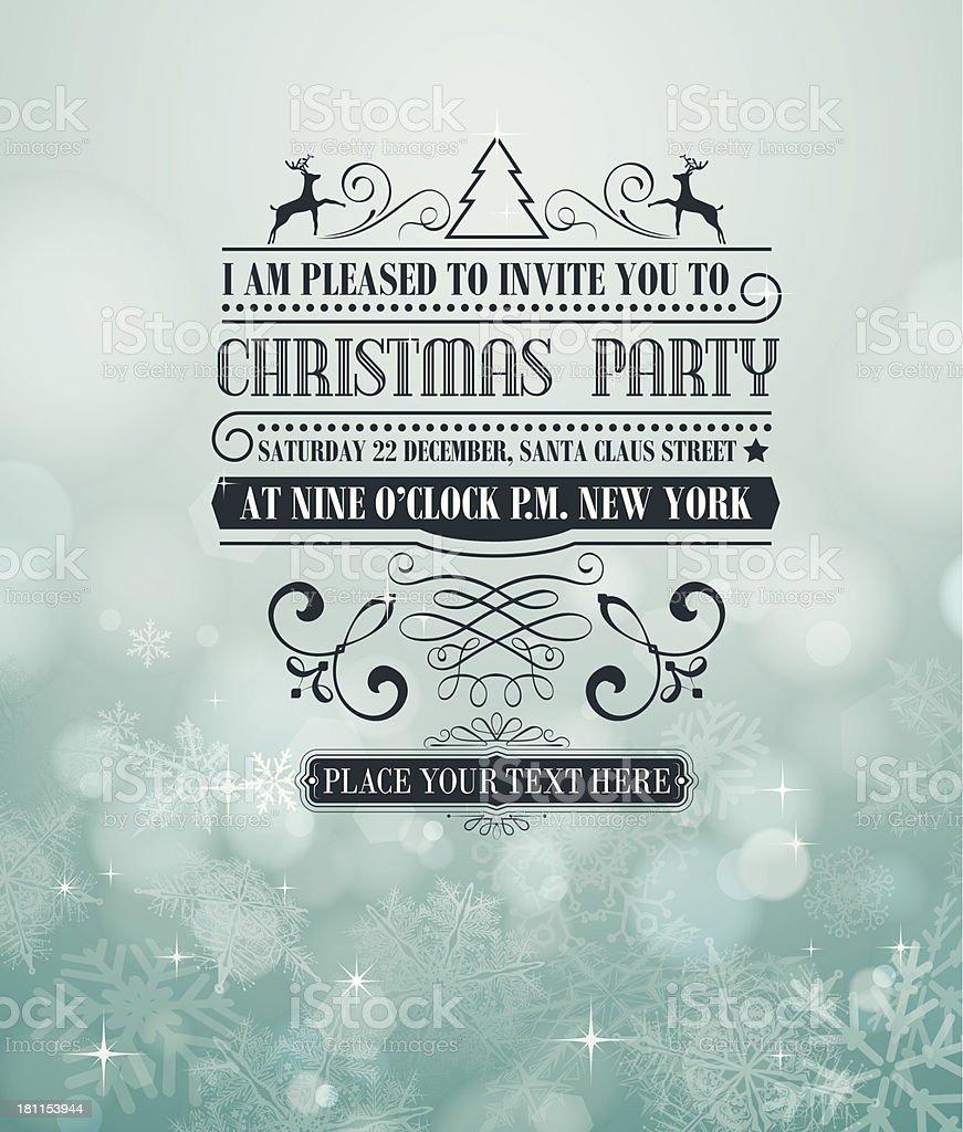 Christmas invitation royalty-free stock vector art