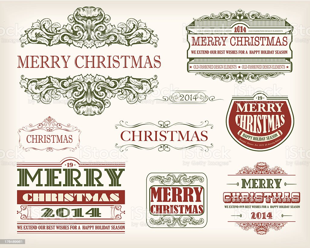 Christmas items! royalty-free stock vector art