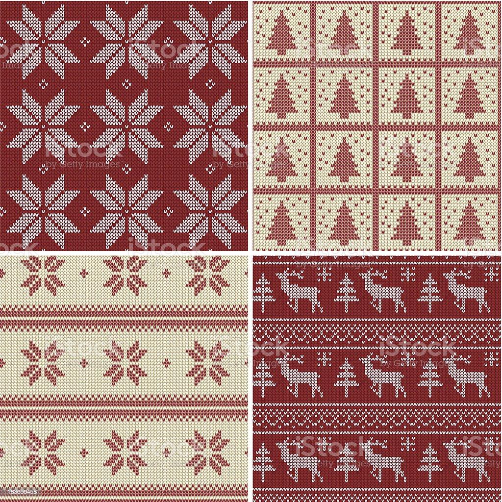 Christmas knitted Scandinavian pattern royalty-free stock vector art