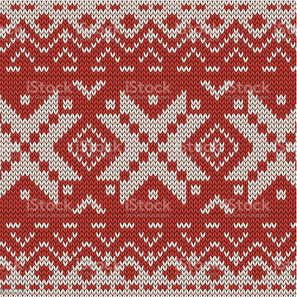 Christmas knitted seamless pattern vector art illustration