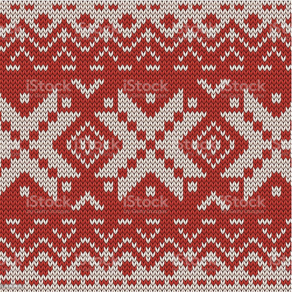 Christmas knitted seamless pattern vector art illustration