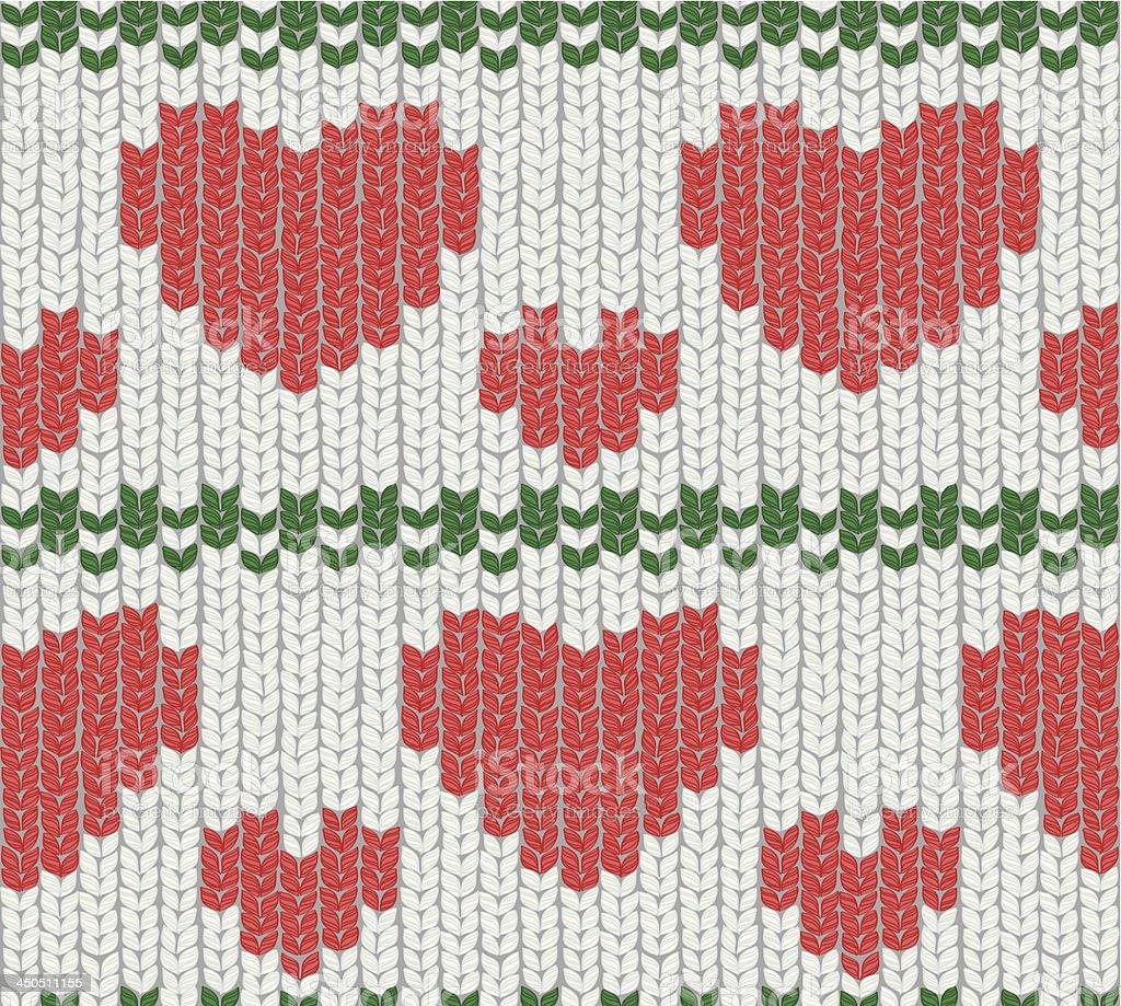 christmas knitting 01 vector art illustration