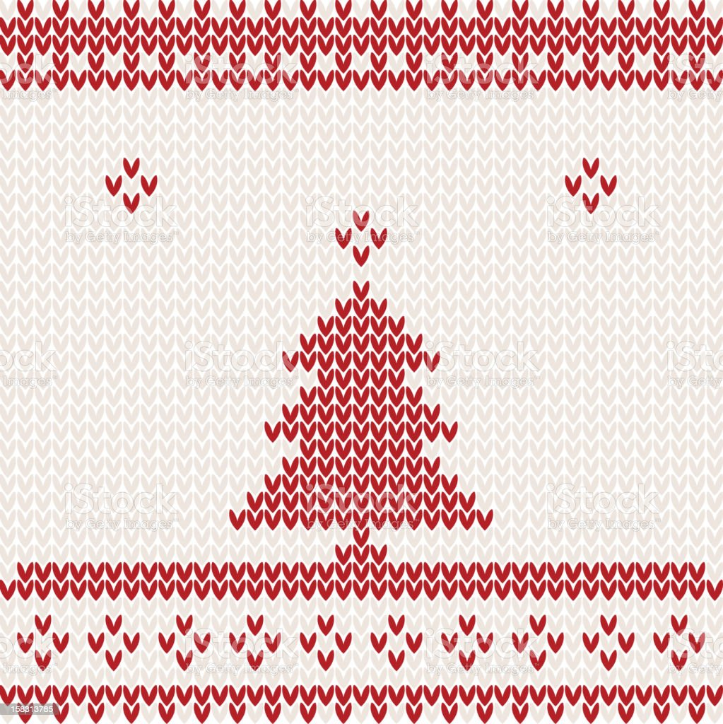Christmas knitting background royalty-free stock vector art