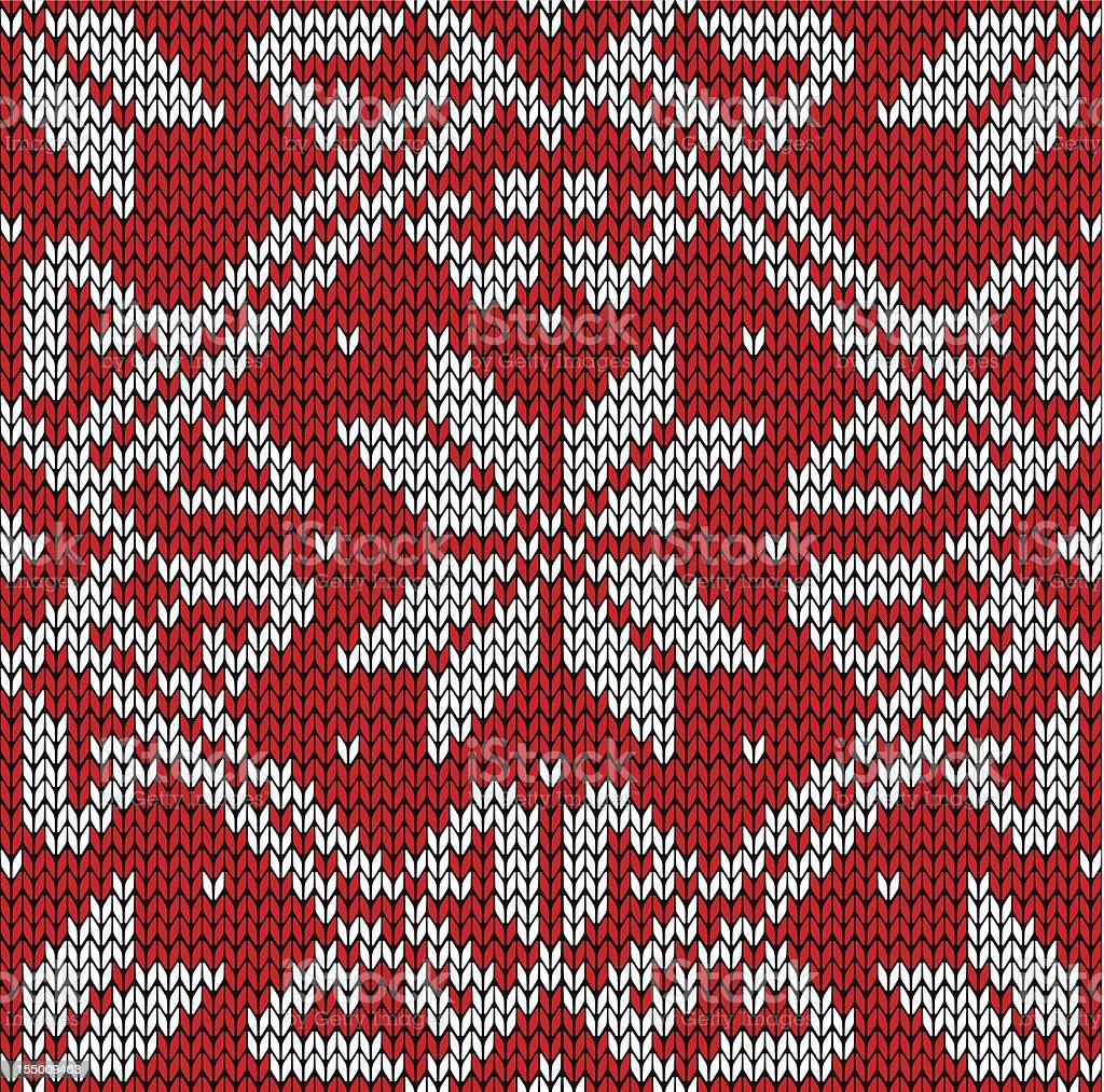 Christmas knitting pattern royalty-free stock vector art