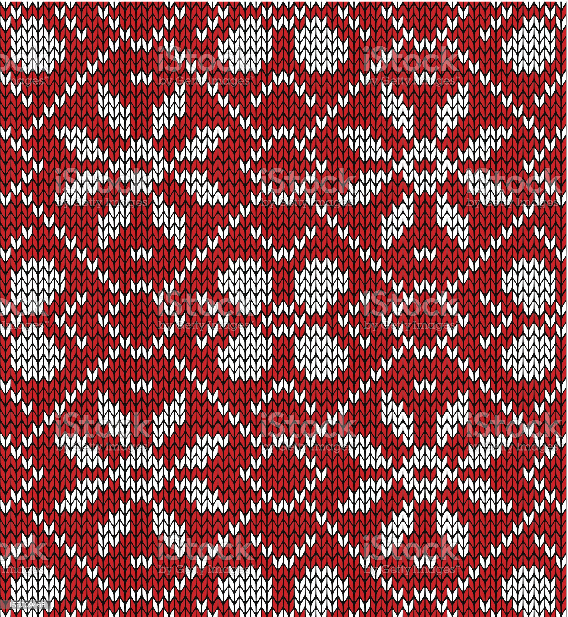 Christmas knitting pattern royalty-free stock vector art