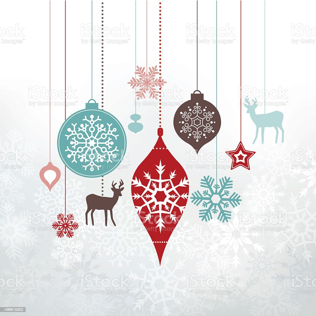 Christmas Labels - ornaments, decorations. vector art illustration