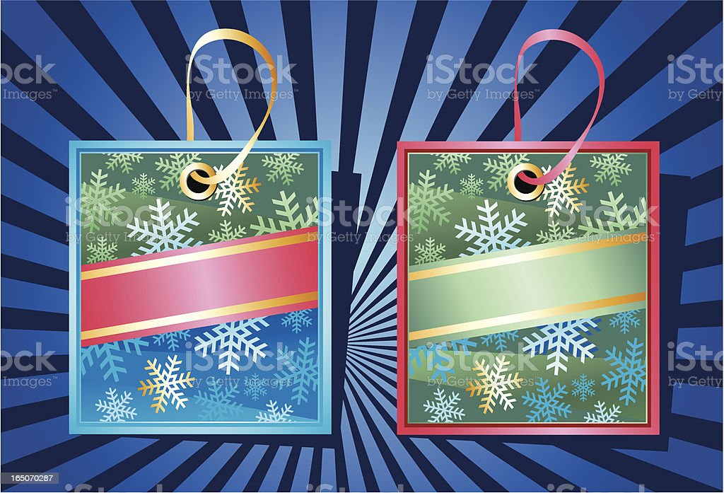 Christmas labels. royalty-free stock vector art
