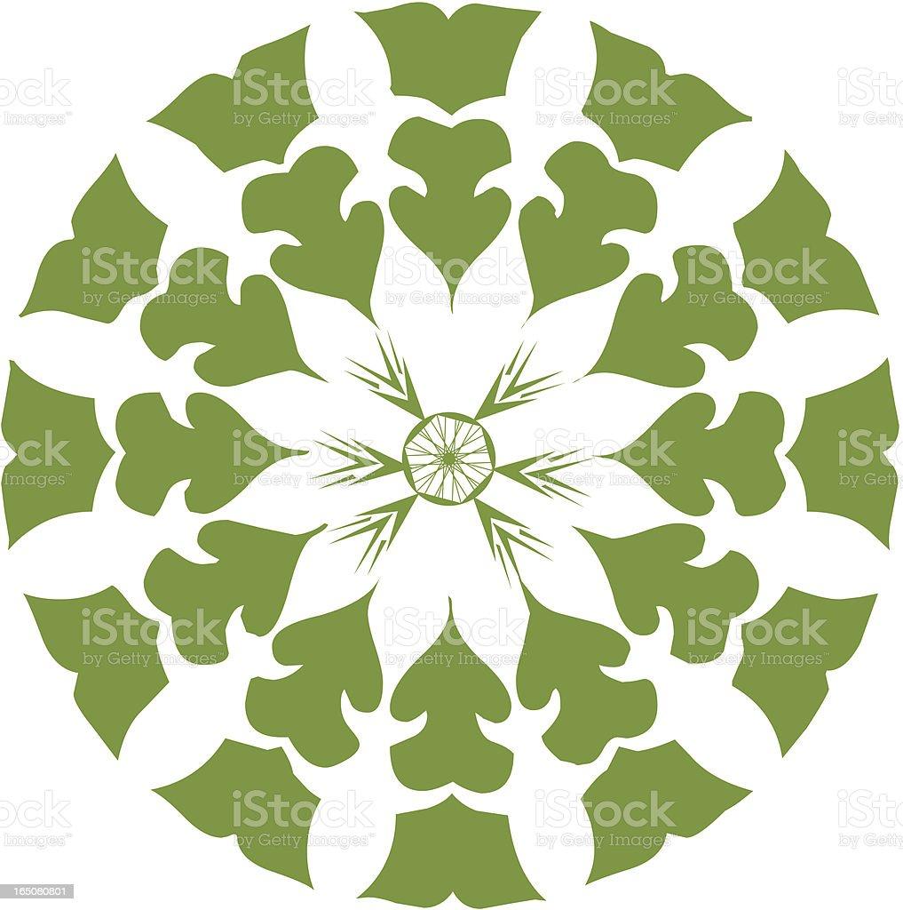 Christmas Lantern Decor (green) royalty-free stock vector art