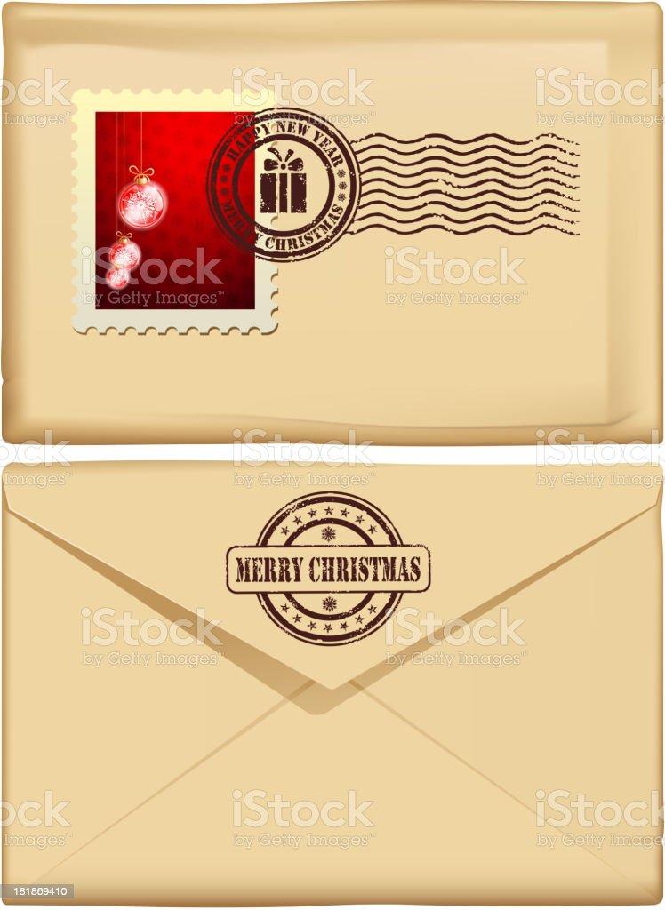 christmas letter royalty-free stock vector art