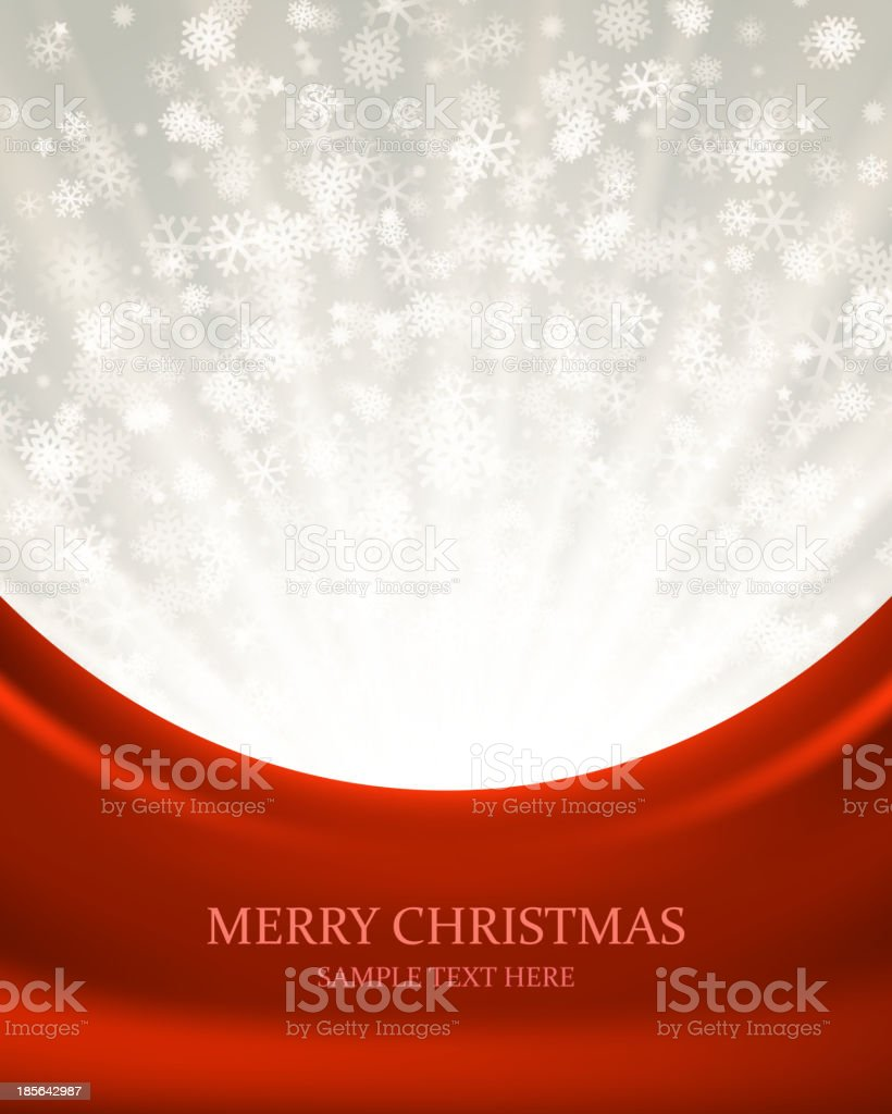 Christmas light and snowflakes vector background. royalty-free stock vector art