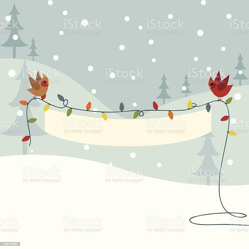 Christmas Light Banner vector art illustration