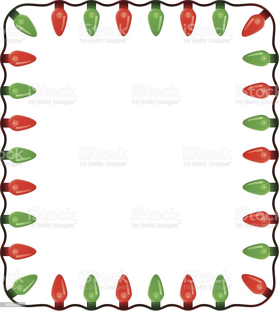 Christmas Light Frame royalty-free stock vector art