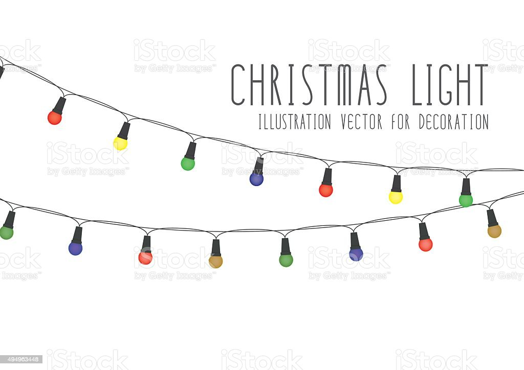 Christmas Light vector art illustration