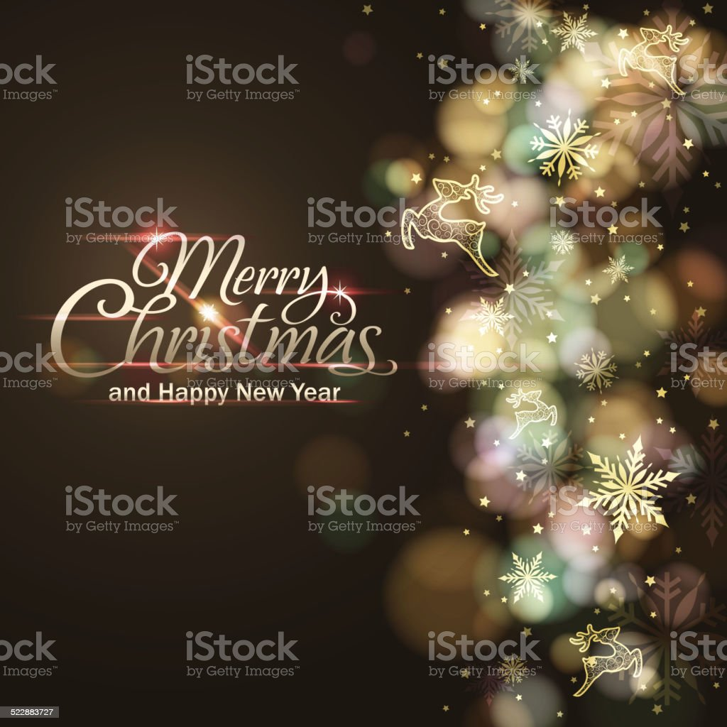 Christmas Lights and Ornaments vector art illustration