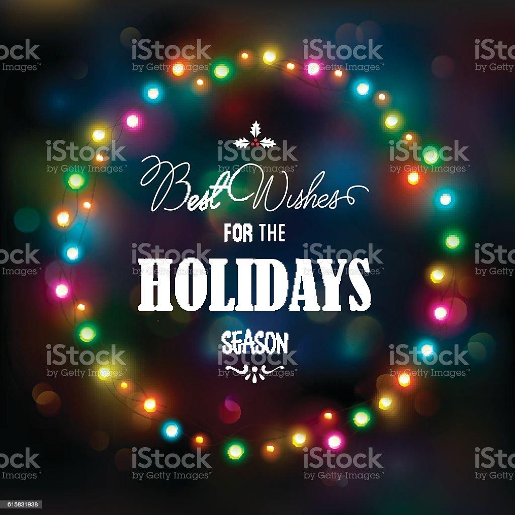 Christmas lights bokeh background vector art illustration