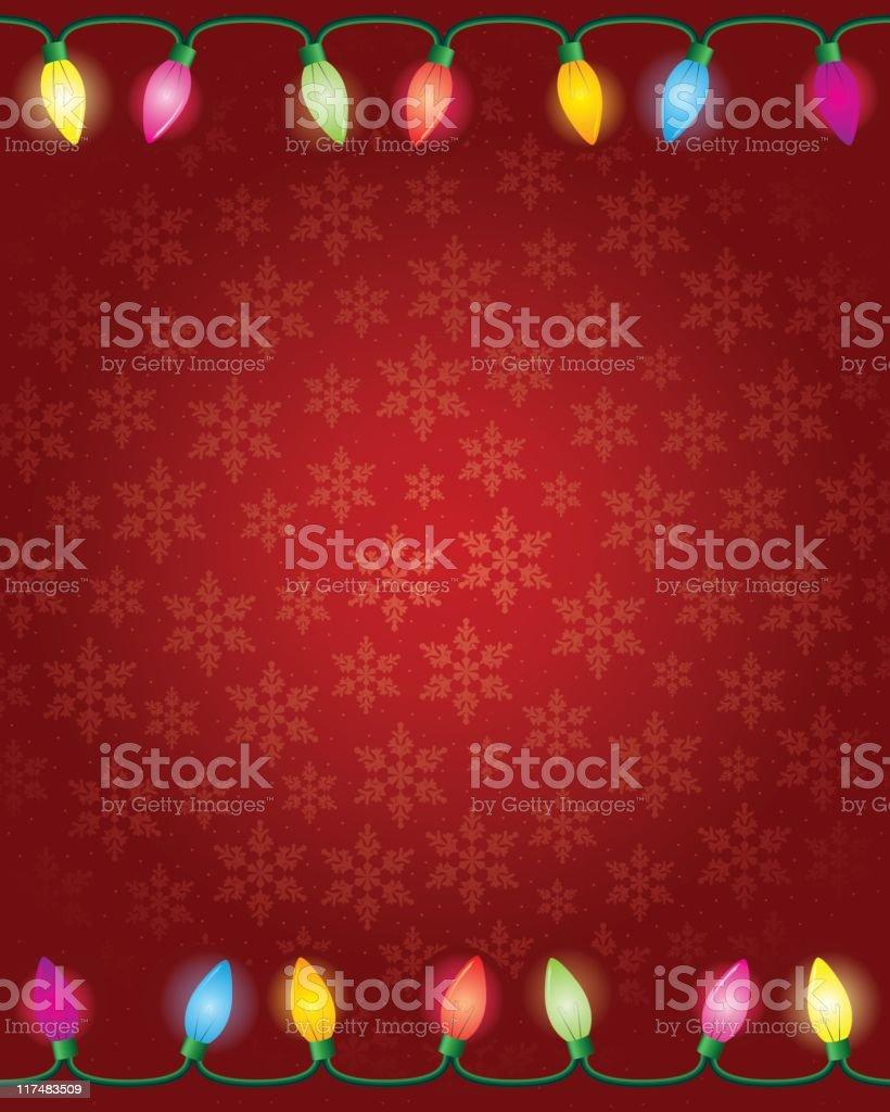 Christmas Lights Border royalty-free stock vector art