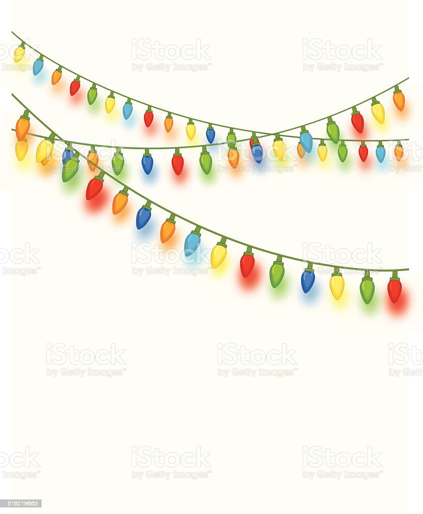 Christmas Lights vector art illustration