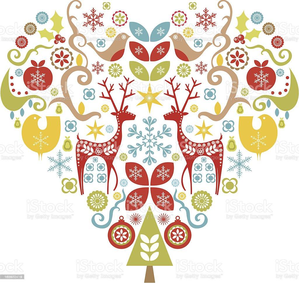 Christmas Love vector art illustration