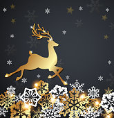 Christmas luxurious background with deer