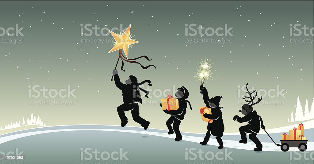 Christmas March royalty-free stock vector art