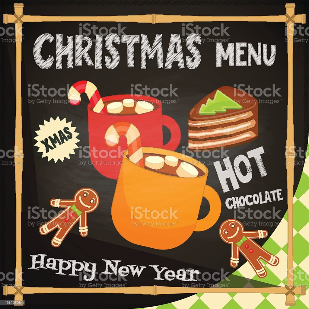 Christmas Menu vector art illustration