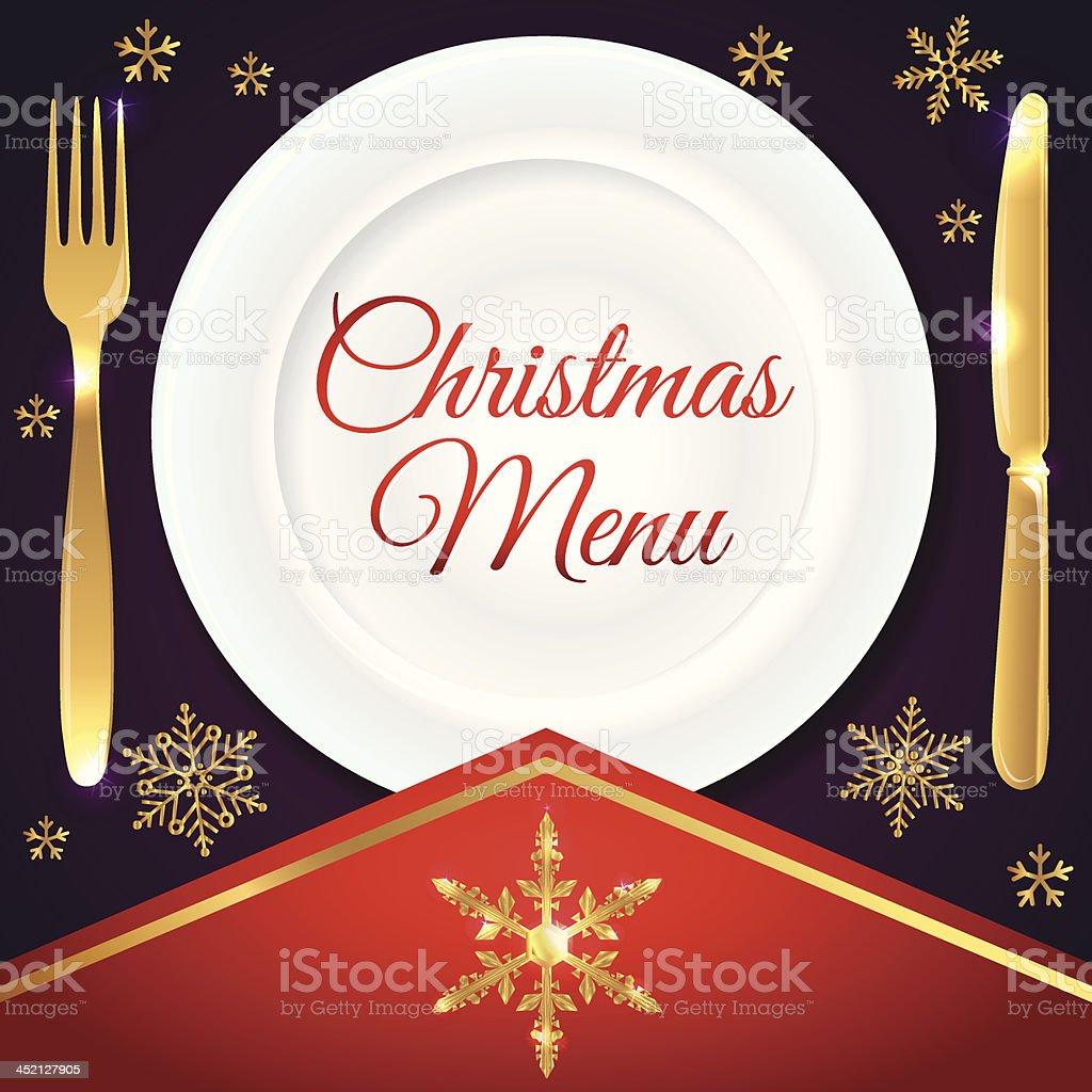 Christmas menu - vector illustration vector art illustration