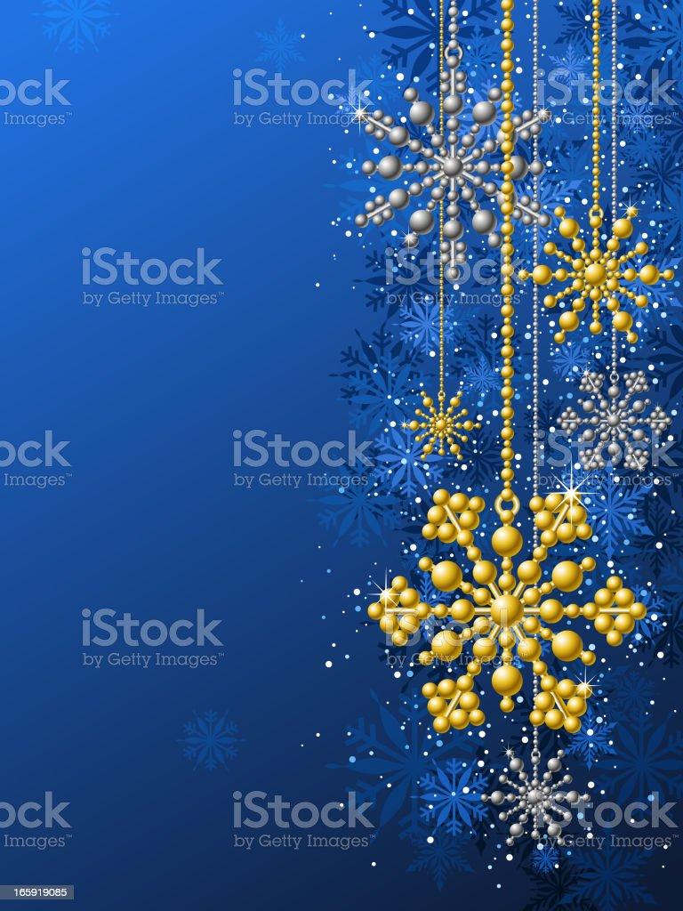 Christmas Metallic Snowflakes royalty-free stock vector art