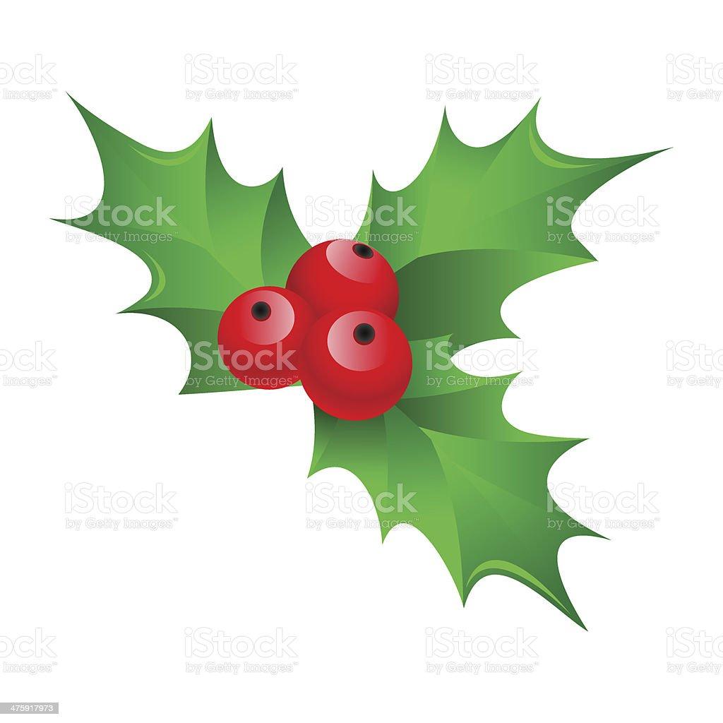 Christmas mistletoe vector art illustration
