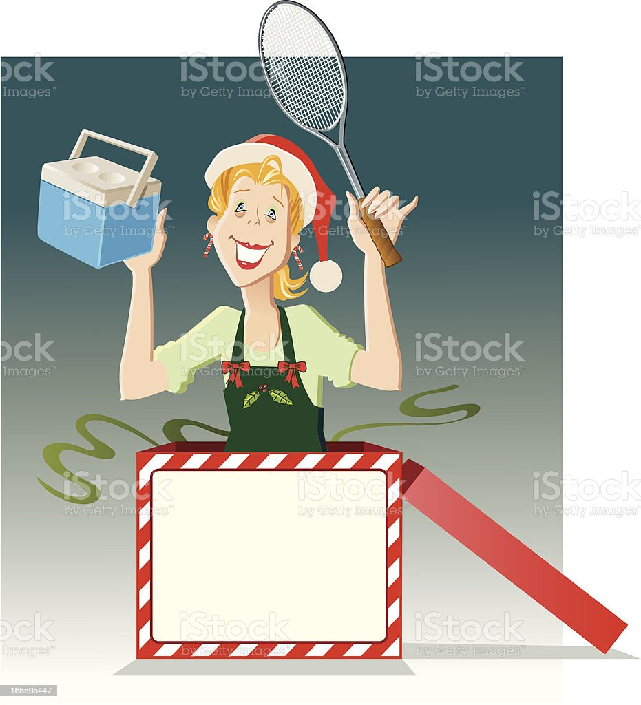 Christmas 'Mom-in-a-Box' royalty-free stock vector art