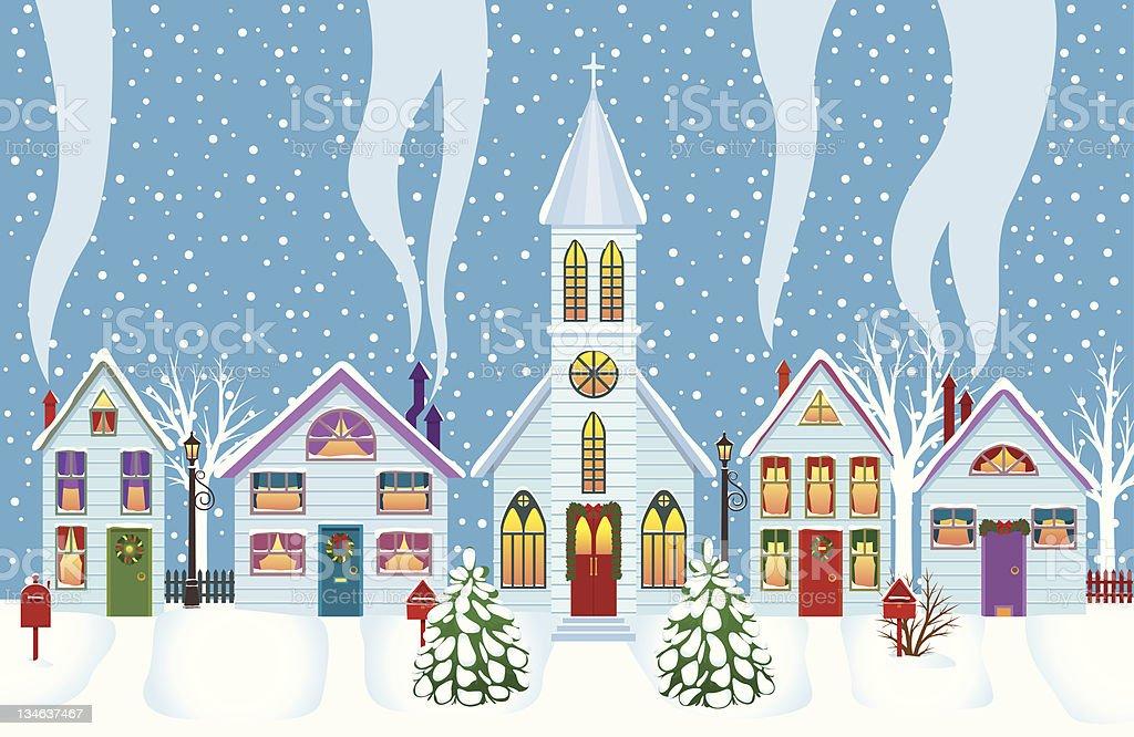 Christmas morning royalty-free stock vector art