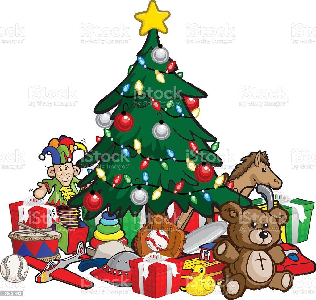 Christmas Morning vector art illustration