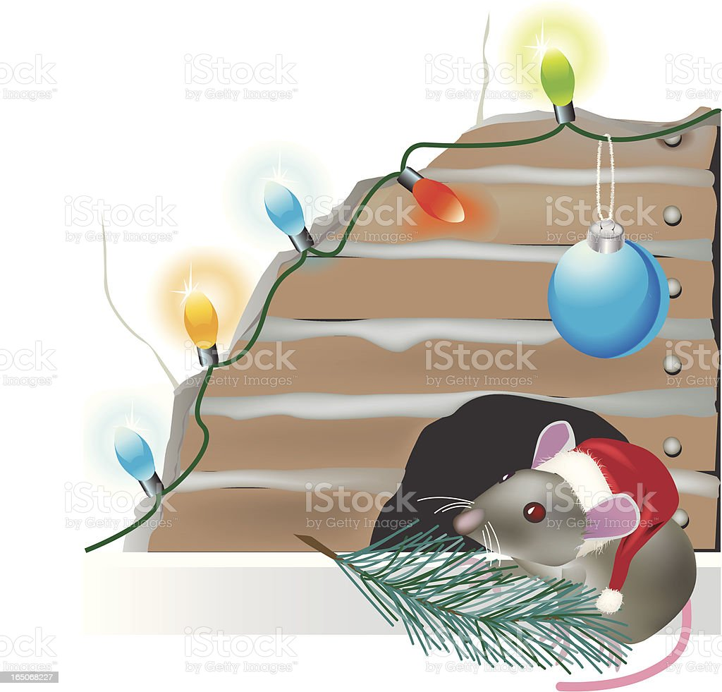 Christmas mouse royalty-free stock vector art