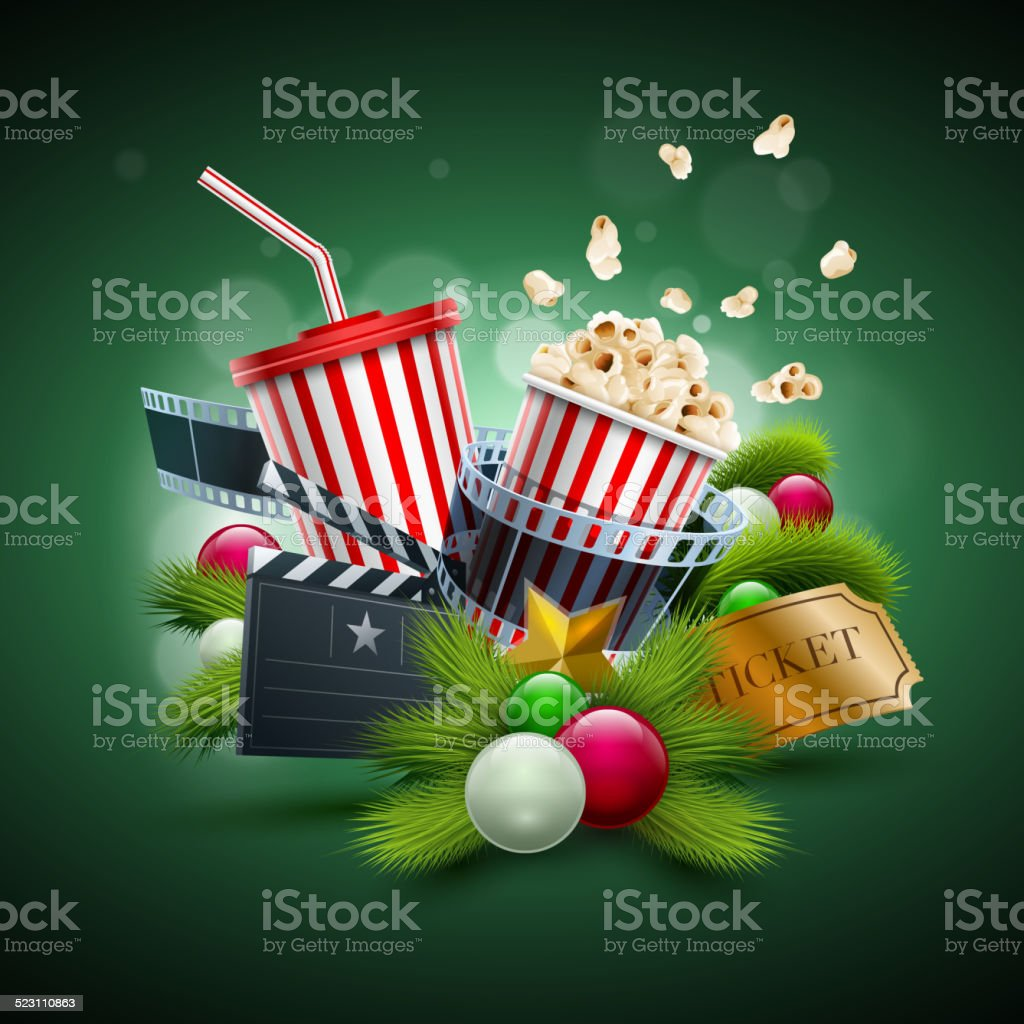 Christmas Movie concept vector art illustration