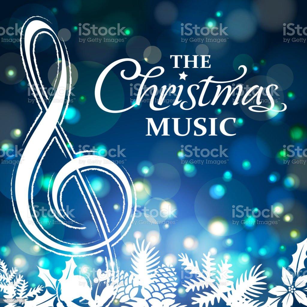 Christmas Music Night vector art illustration