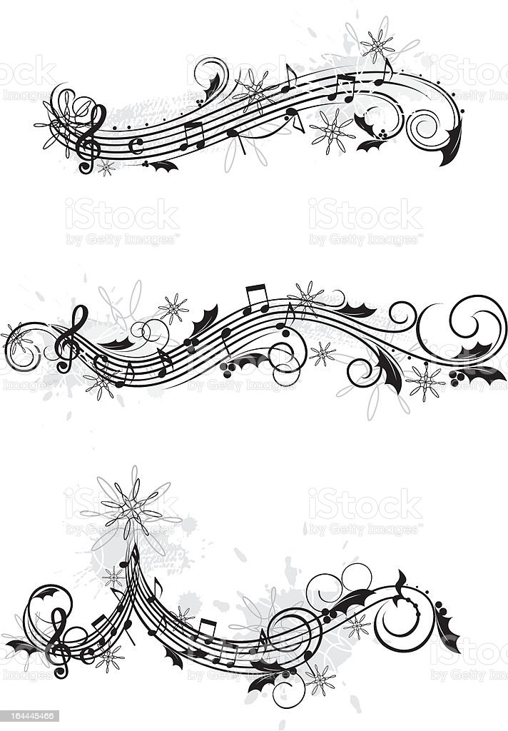 Christmas musical design elements royalty-free stock vector art