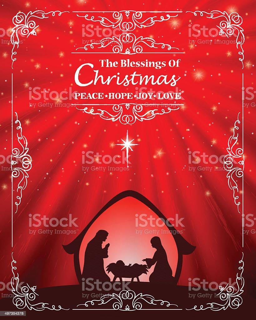 Christmas Nativity vector art illustration