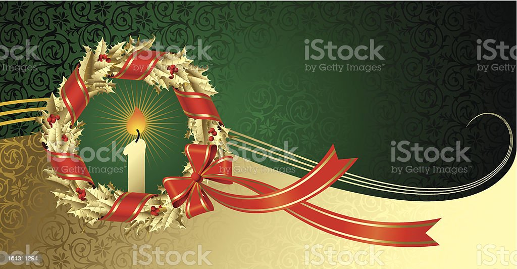 Christmas & New Year's greeting card royalty-free stock vector art