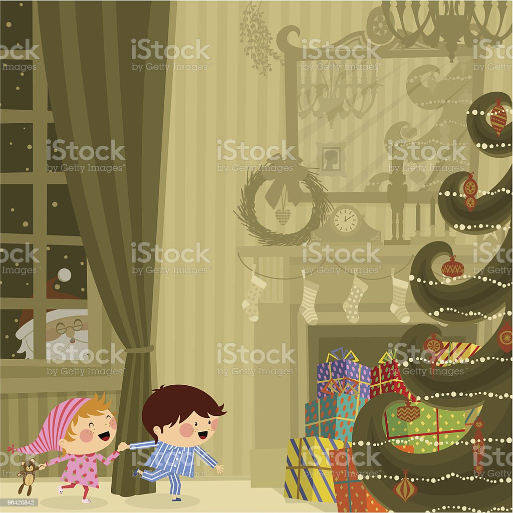 Christmas night royalty-free stock vector art