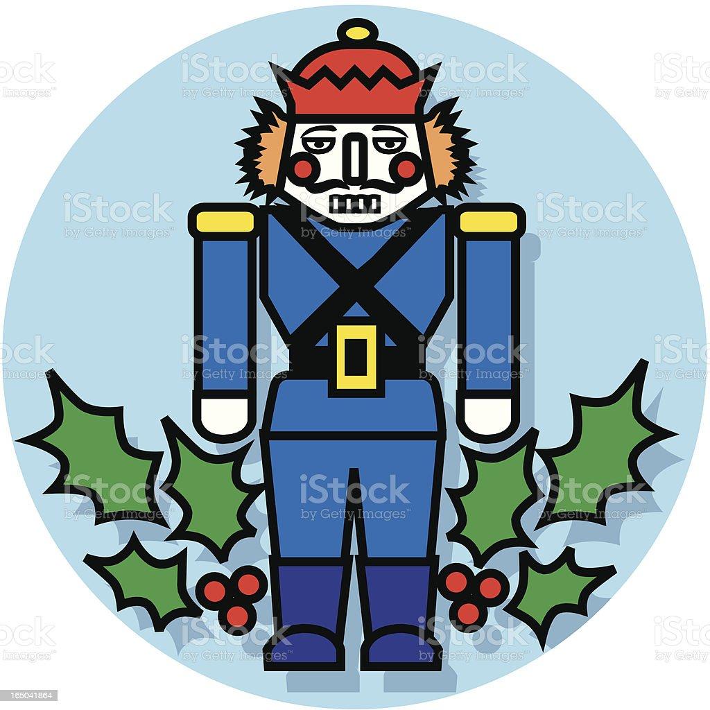 Christmas nutcracker icon royalty-free stock vector art