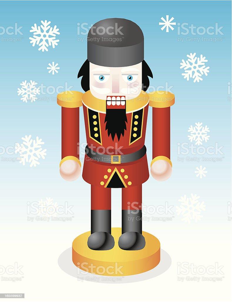 Christmas nutcracker royalty-free stock vector art