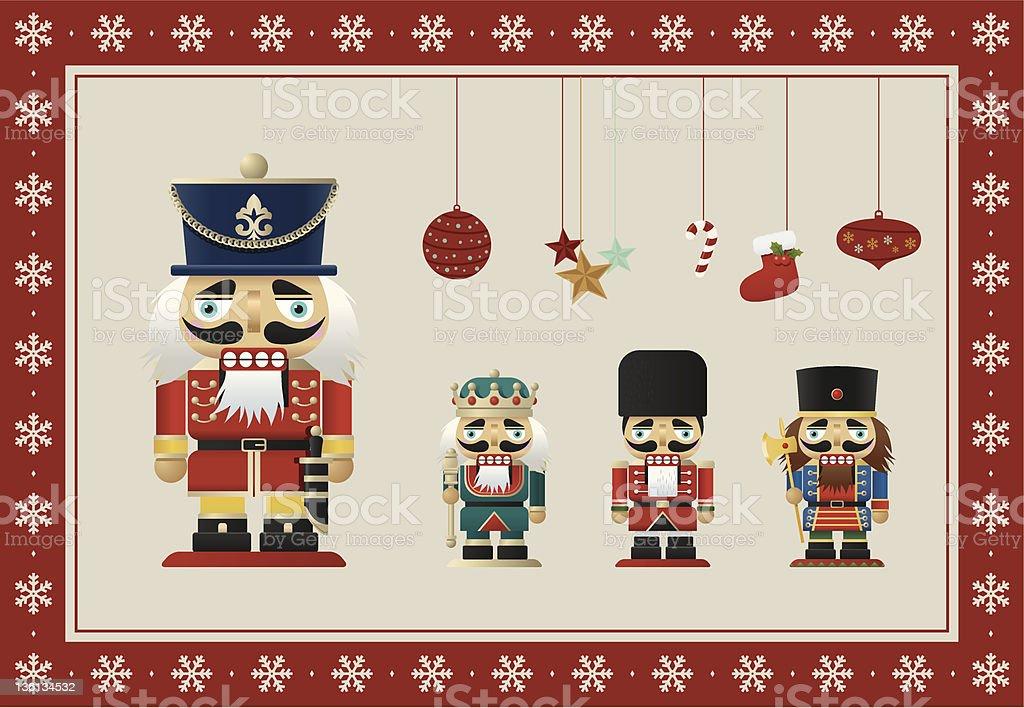Christmas Nutcrackers vector art illustration